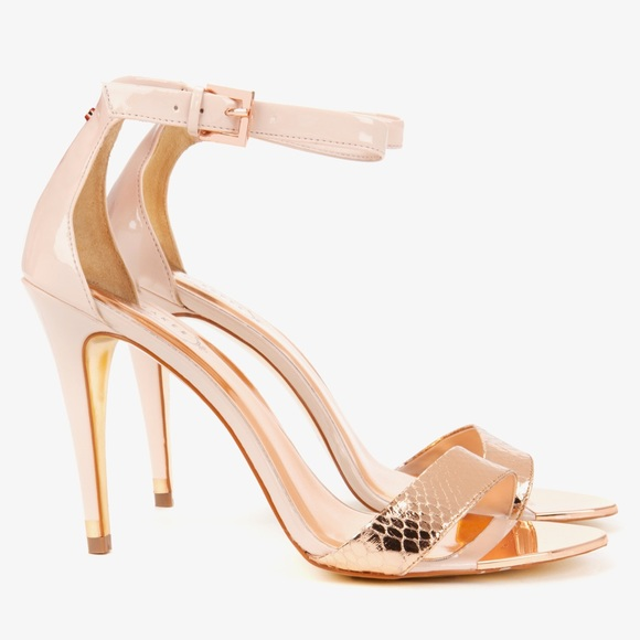 Ted baker ankle strap sandals in rose gold size 7!  M 5b5517f63c9844eb2607a367